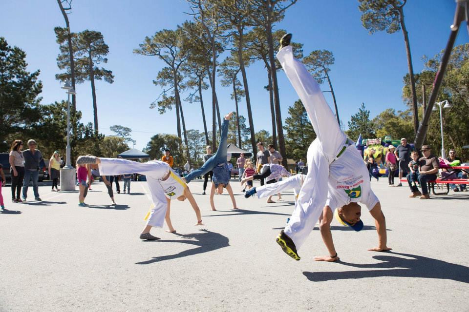 capoeira class outdoors